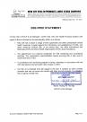 BSE Free statement