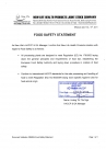 FOOD SAFETY STATEMENT