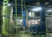 Akaline chemical processing section in transforming crude oil into deacidified fish oil