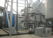 Water purification system to de-iron and  purify the washing water to drinking water standards.